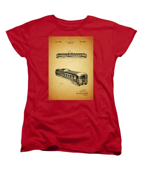 1951 Railway Car Patent Women's T-Shirt (Standard Cut) by Dan Sproul