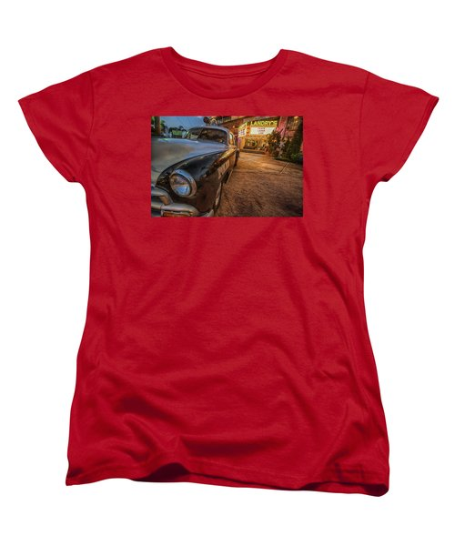 Women's T-Shirt (Standard Cut) featuring the tapestry - textile 1952 Chevy  by Kathy Adams Clark