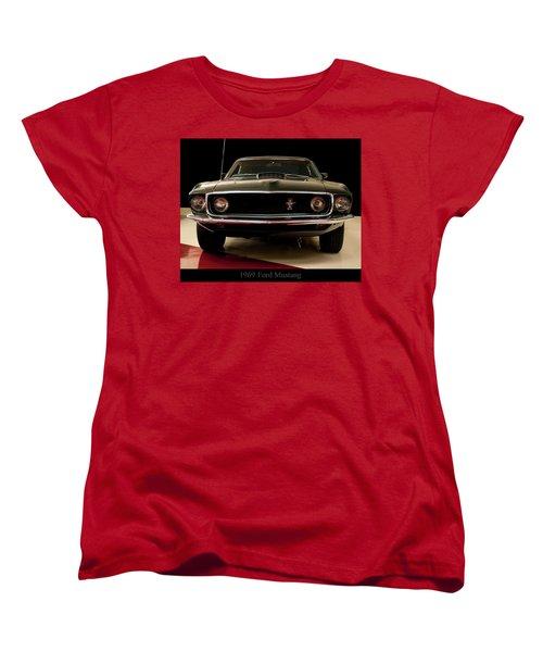 Women's T-Shirt (Standard Cut) featuring the digital art 1969 Ford Mustang by Chris Flees