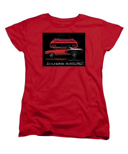 1971 Plymouth Cuda 440 Six Pack    Women's T-Shirt (Standard Cut) by Peter Piatt