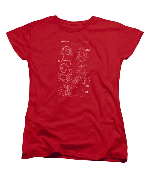 1973 Space Suit Elements Patent Artwork - Red Women's T-Shirt (Standard Cut) by Nikki Marie Smith