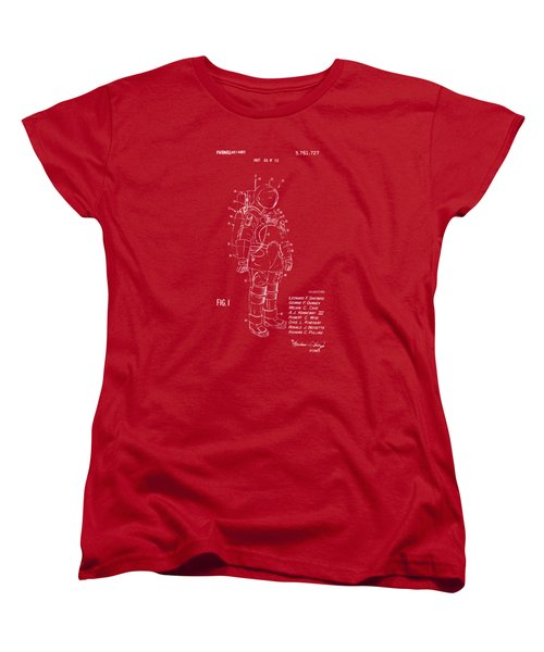 1973 Space Suit Patent Inventors Artwork - Red Women's T-Shirt (Standard Cut) by Nikki Marie Smith