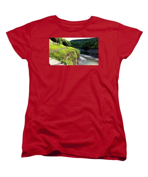 Women's T-Shirt (Standard Cut) featuring the photograph Canyon  by Raymond Earley