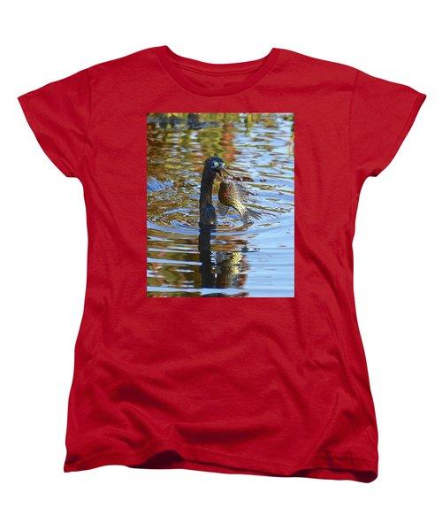 Fish, It's What's For Dinner Women's T-Shirt (Standard Cut) by Carol Bradley