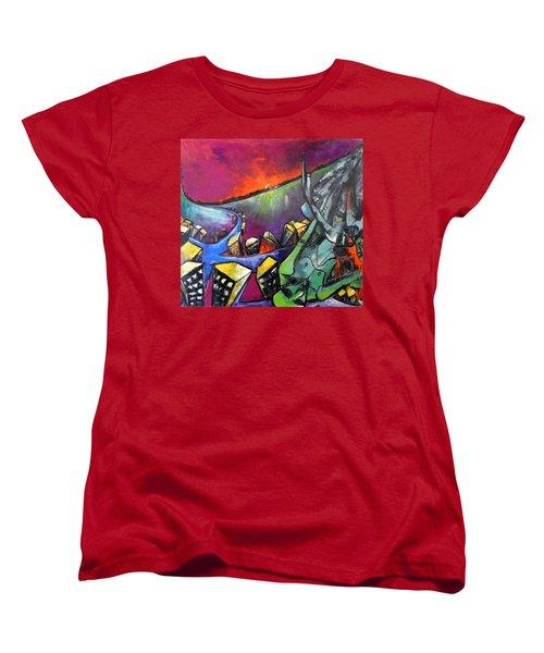 Flight Of Death Women's T-Shirt (Standard Cut) by Kenneth Agnello