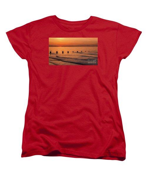 Women's T-Shirt (Standard Cut) featuring the photograph Golden Sunset by Adrian Evans