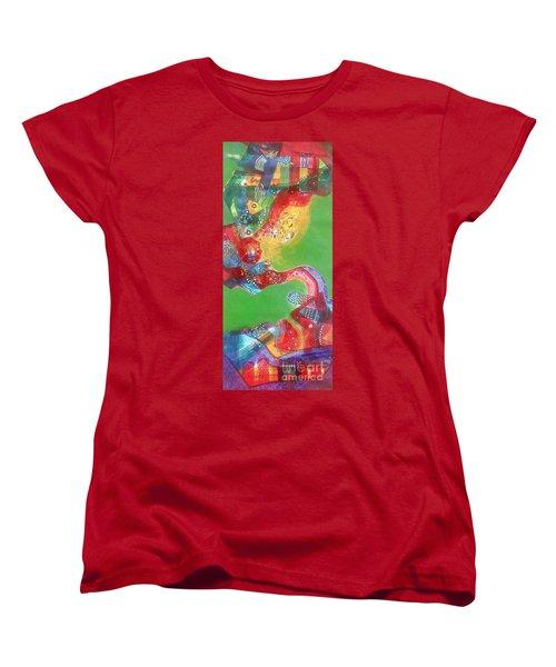 Green Harmony Women's T-Shirt (Standard Cut) by Sanjay Punekar