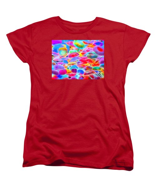 In Color Abstract 9 Women's T-Shirt (Standard Cut) by Cathy Anderson