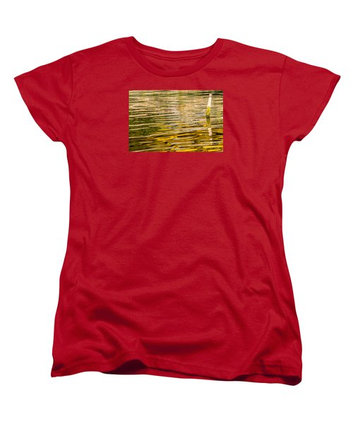 Lake Reflection Women's T-Shirt (Standard Cut) by Odon Czintos