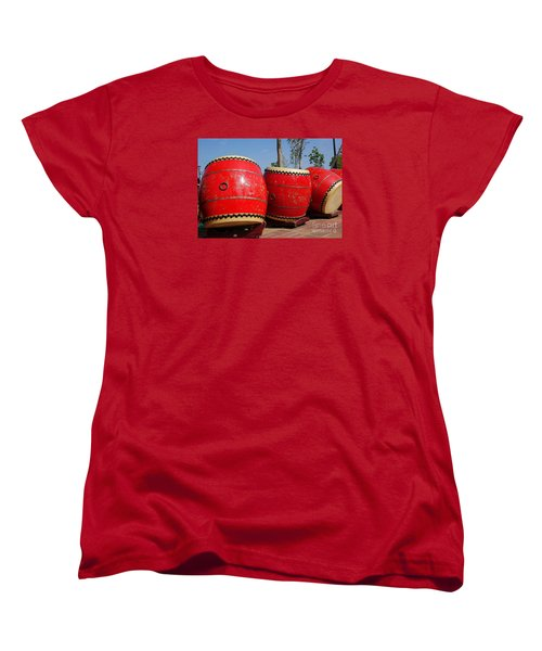 Large Chinese Drums Women's T-Shirt (Standard Cut)