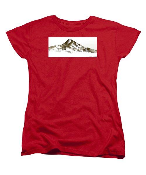 Mt. Hood Women's T-Shirt (Standard Cut) by Steve Warnstaff