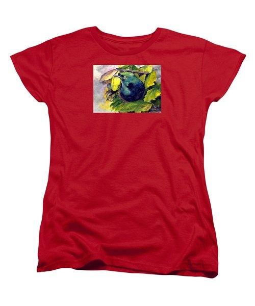 Women's T-Shirt (Standard Cut) featuring the painting Paradise Bird by Jason Sentuf