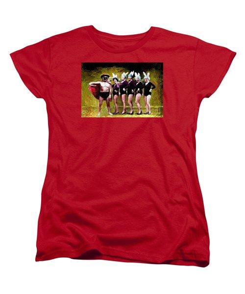 Playboy And Bunnies Women's T-Shirt (Standard Cut)