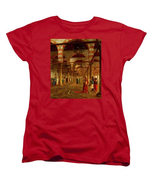 Women's T-Shirt (Standard Cut) featuring the painting Prayer In The Mosque by Jean-Leon Gerome