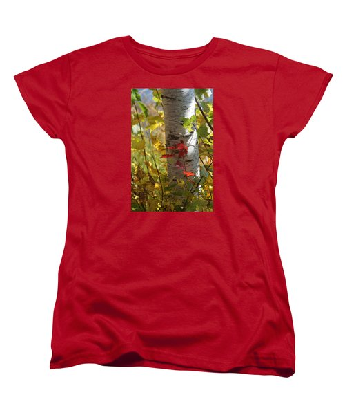 Women's T-Shirt (Standard Cut) featuring the photograph Seeing Red by Judy  Johnson