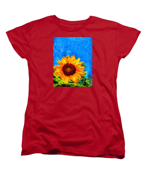 Sunflower  Women's T-Shirt (Standard Cut) by Andre Faubert