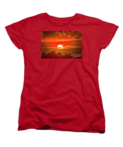 Sunset Women's T-Shirt (Standard Cut) by Pravine Chester