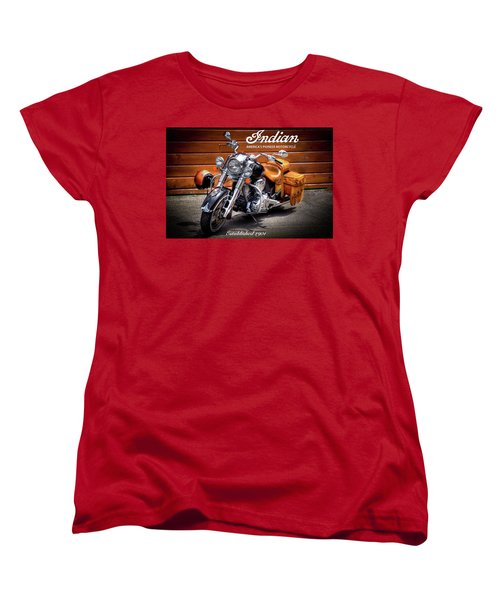 The Indian Motorcycle Women's T-Shirt (Standard Cut) by David Patterson