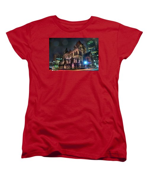Women's T-Shirt (Standard Cut) featuring the photograph Trinity Church - Copley Square Boston by Joann Vitali