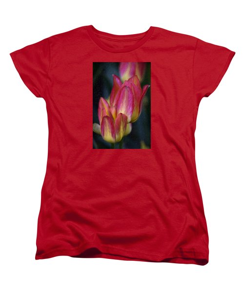 Tulips Women's T-Shirt (Standard Cut) by Andre Faubert
