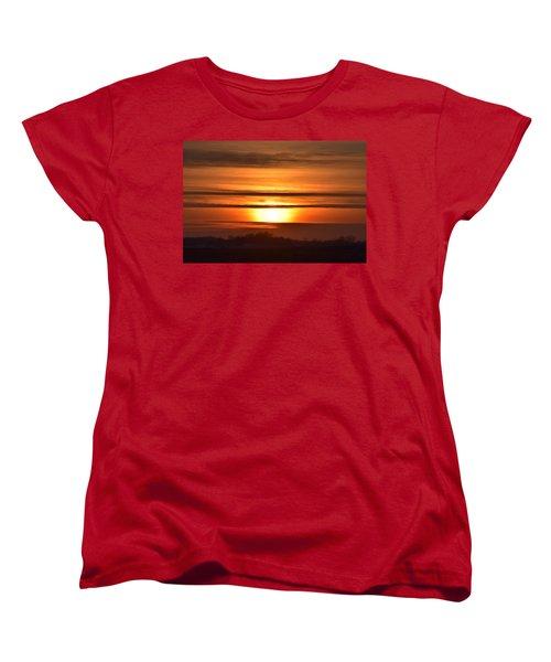 Women's T-Shirt (Standard Cut) featuring the photograph Winter Sunset by Dacia Doroff