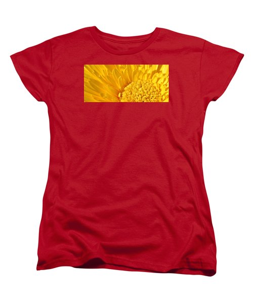 yellow Flower Women's T-Shirt (Standard Cut) by Werner Lehmann