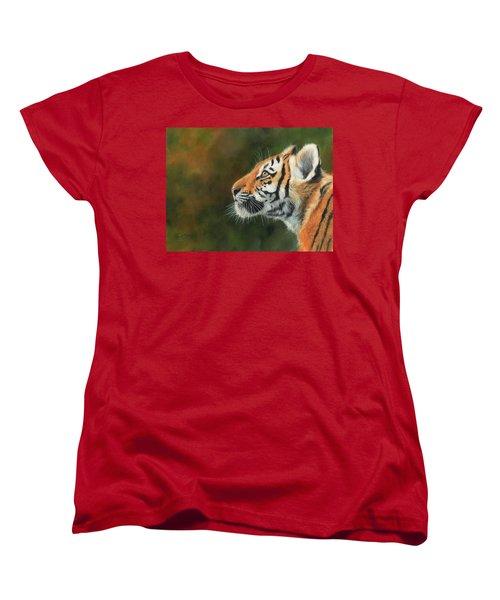 Young Amur Tiger  Women's T-Shirt (Standard Cut) by David Stribbling