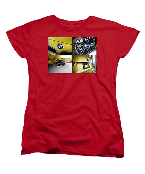 Women's T-Shirt (Standard Cut) featuring the photograph 2015 Bmw M4 Collage  by Aaron Berg