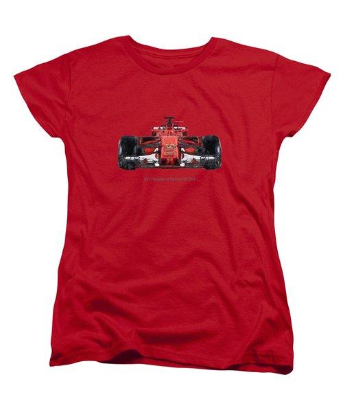 2017scuderia Ferrari Sf70h Women's T-Shirt (Standard Cut) by Roger Lighterness