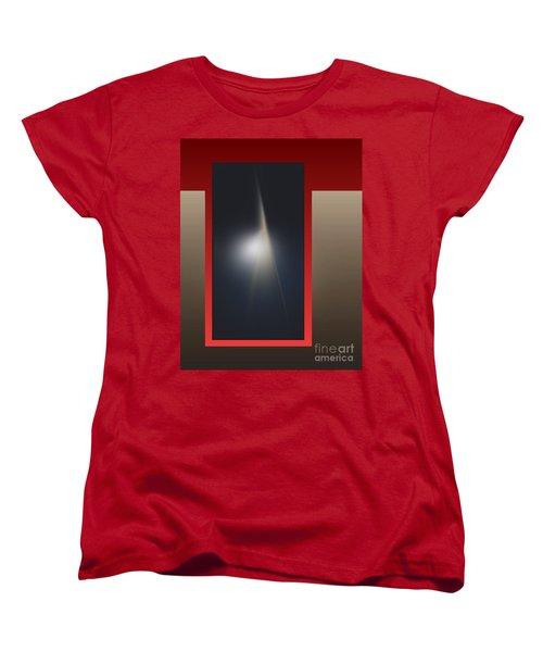 Women's T-Shirt (Standard Cut) featuring the digital art 2053-2 2017 by John Krakora