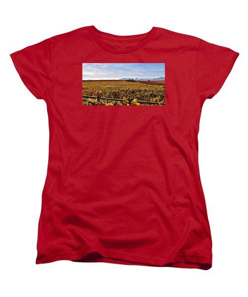Autumn In The Vineyard Women's T-Shirt (Standard Cut) by Werner Lehmann