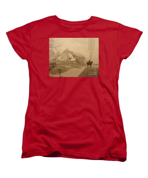 Dyckman Farmhouse  Women's T-Shirt (Standard Cut) by Cole Thompson