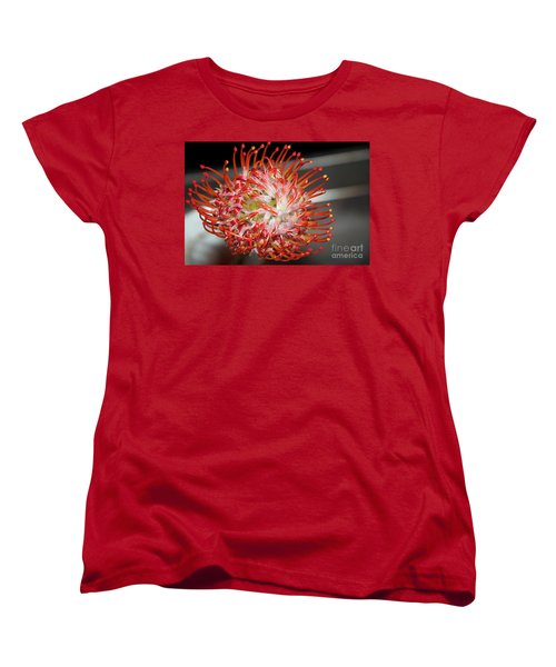 Exotic Flower Women's T-Shirt (Standard Cut) by Elvira Ladocki
