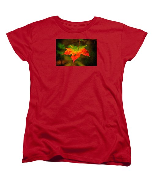 Maple Leaf Women's T-Shirt (Standard Cut) by Andre Faubert