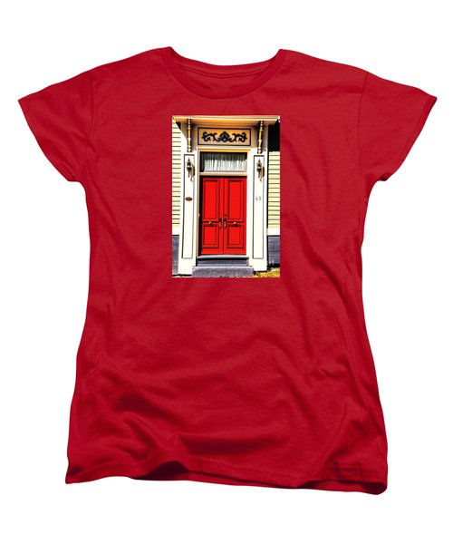 Women's T-Shirt (Standard Cut) featuring the photograph Red Door by Rick Bragan