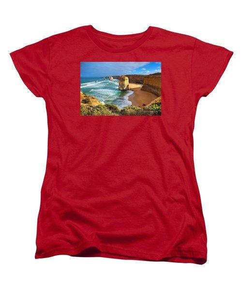 Women's T-Shirt (Standard Cut) featuring the photograph Twelve Apostles Great Ocean Road by Bill  Robinson