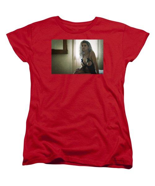 Women's T-Shirt (Standard Cut) featuring the photograph Tu M'as Promis by Traven Milovich