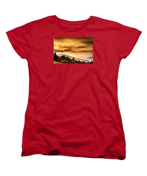 Allegheny Mountain Sunrise Women's T-Shirt (Standard Cut) by Thomas R Fletcher
