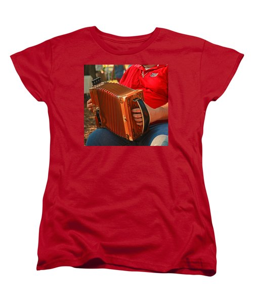Acordian Women's T-Shirt (Standard Cut) by Ronald Olivier