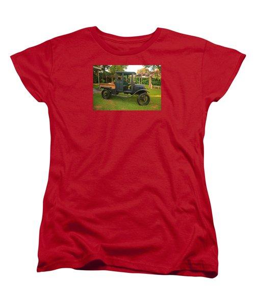 Antique Car Women's T-Shirt (Standard Cut) by Ronald Olivier
