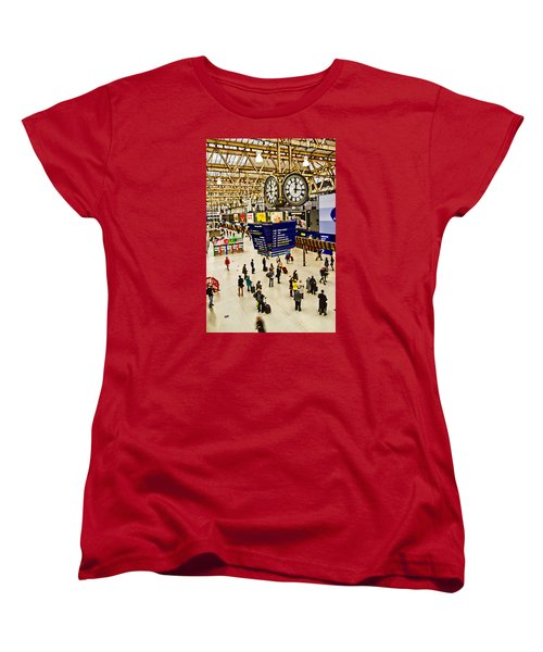 London Waterloo Station Women's T-Shirt (Standard Cut) by David French