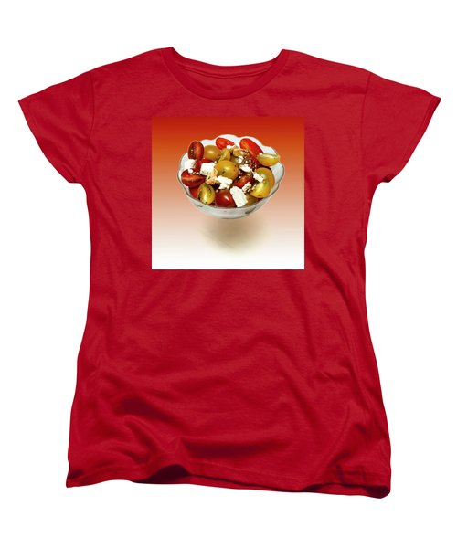 Plum Cherry Tomatoes Women's T-Shirt (Standard Cut) by David French