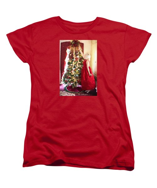 Vintage Val Home For The Holidays Women's T-Shirt (Standard Cut) by Jill Wellington