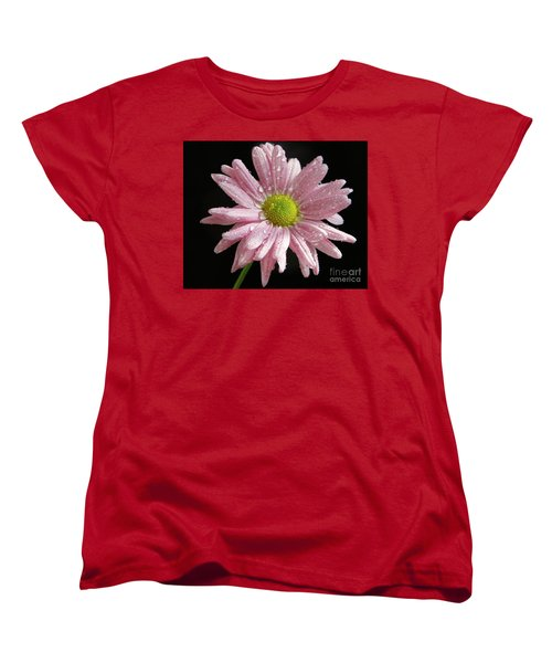 Pink Flower Women's T-Shirt (Standard Cut) by Elvira Ladocki