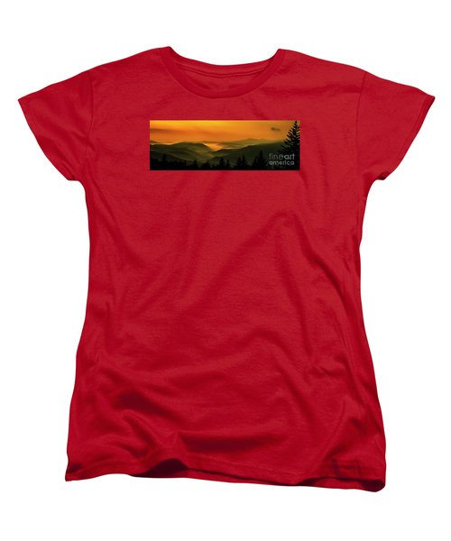 Women's T-Shirt (Standard Cut) featuring the photograph Allegheny Mountain Sunrise by Thomas R Fletcher