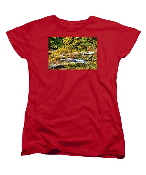 Autumn Middle Fork River Women's T-Shirt (Standard Cut) by Thomas R Fletcher