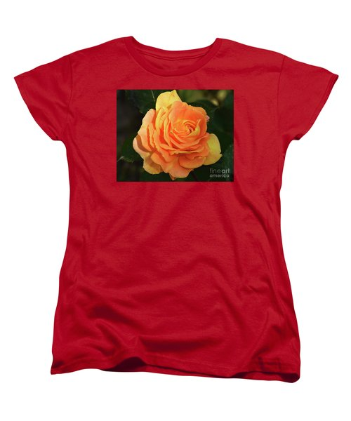 Women's T-Shirt (Standard Cut) featuring the photograph Orange Rose by Elvira Ladocki
