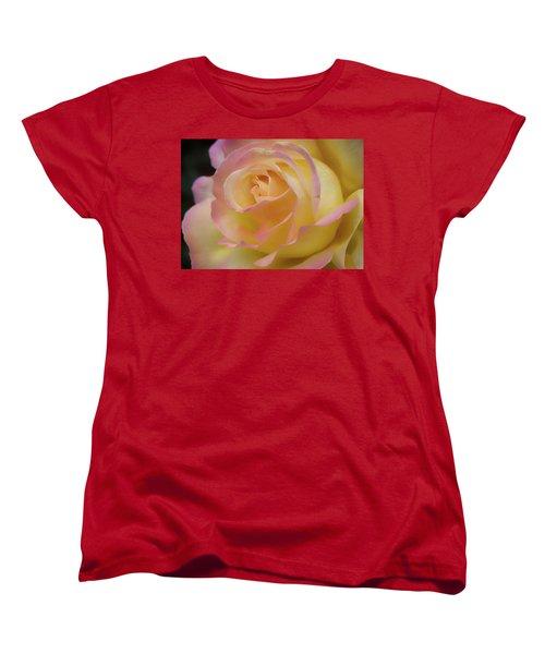 Rose Beauty Women's T-Shirt (Standard Cut) by Shirley Mitchell