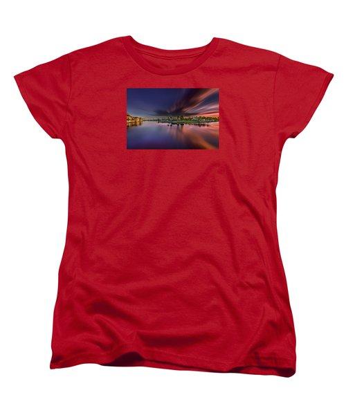 Sunrise At Naples, Florida Women's T-Shirt (Standard Cut) by Peter Lakomy