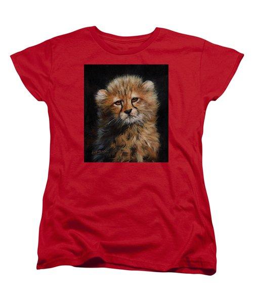 Cheetah Cub Women's T-Shirt (Standard Cut) by David Stribbling